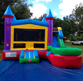 Happy Kids Inflatables - Castle #1 Inflatable Combo Bounce House with Slide Wet
