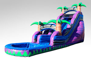 Happy Kids Inflatables - 18ft purple crush inflatable slide wet