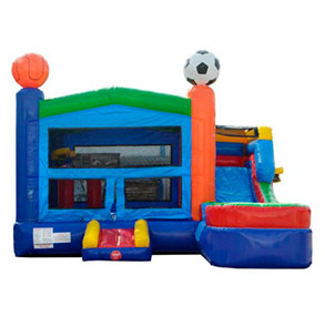 Happy Kids Inflatables - Sports Inflatable with Pool Dry