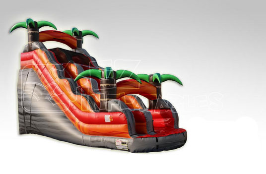 Happy Kids Inflatables - 18' Tropical Rush Inflatable Dry Slide