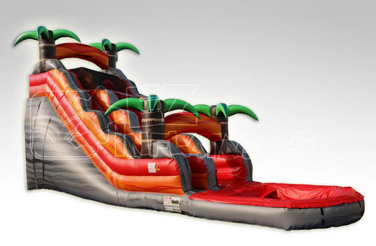 Happy Kids Inflatables - 18' Tropical Rush Water Slide