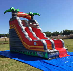 Happy Kids Inflatables - Lava Rush Inflatable Dry Slide