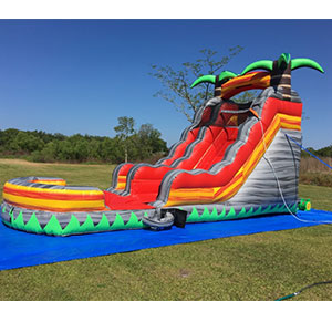 Happy Kids Inflatables - Lava Rush Inflatable Wet Slide