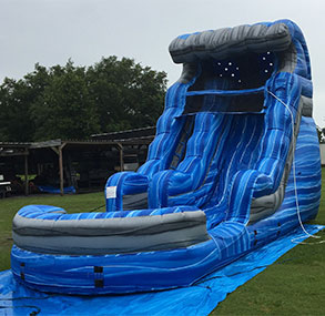 16' Laguna Wave Inflatable Slide with Pool