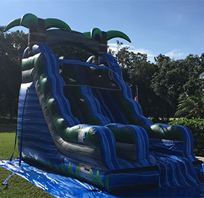 18' Blue Crush Inflatable Slide Dry