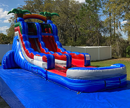 18 Foot Baja Splash Inflatable Water Slide With Pool
