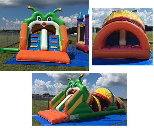 Happy Kids Inflatables - Obstacle Caterpillar