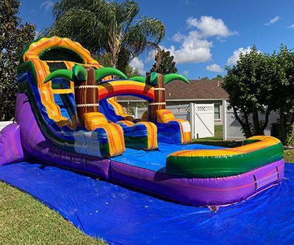 18' Goombay Splash Inflatable Water Slide With Pool
